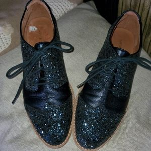 Stunning anthropologie Oxford loafers